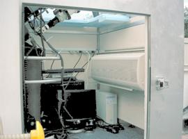 Mitsubishi Indoor Unit Inside the  Electronic Telescope